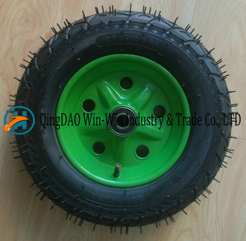 Wear-Resistant Pneumatic Rubber Wheel for Trolley (3.50-8/350-8) pictures & photos