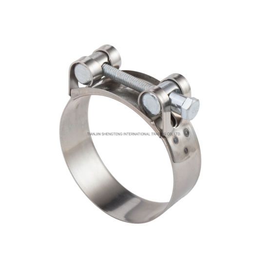 High Pressure European Type Heavy Duty Hose Clamps Heavy Duty Stainless Steel Super Power Unitary Hose Clamp