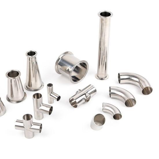 Stainless Steel Hygienic Sanitary Pharma Juice Production Line Tube Pipe Fittings
