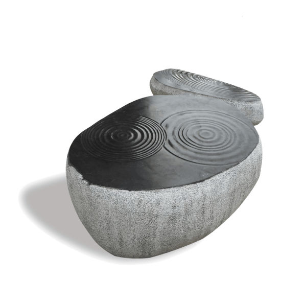 Garden Decoration Modern Design Stone Natural Carved Chair Mbg-11