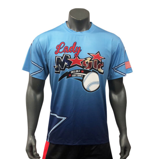 Custom Stripes Baseball Shirt Comfortable Softball Shirt Sublimated Baseball Jersey pictures & photos