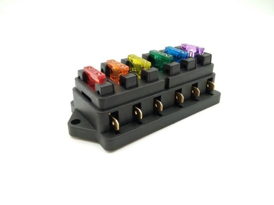 6 Way Car Auto Standard Blade Fuse Box Holder Block