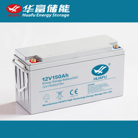 12V150ah Storage Battery Rechargeable Gel Solar Battery pictures & photos