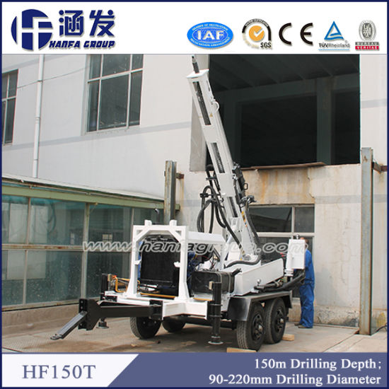 China Hf150t Mini Cheap Portable Water Well Drilling Rig for