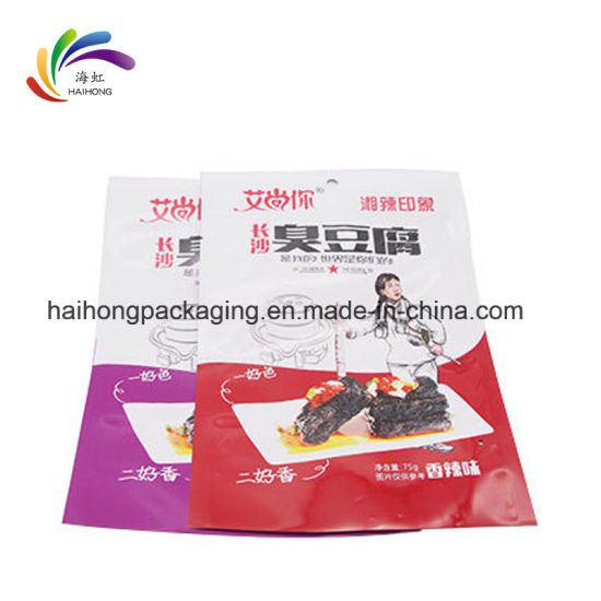 Custom Plastic Aluminum Foil Color Printing Food Packaging Three Side Seal Bag pictures & photos