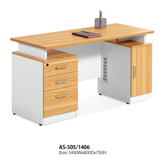 Hot Sale Wooden Office Table with Moveable Cabinet pictures & photos