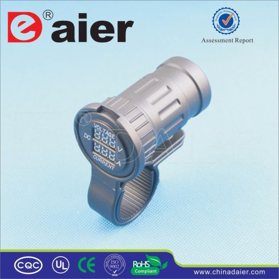 Daier 2 Port Waterproof Hand Stents Digital AC Socket (DS8H40)