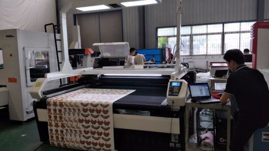CCD Camera Laser Cutting Machine CNC Label/Logo/Leather/Fabric/Paper Visual Cutter pictures & photos