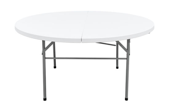 Deluxe 5 Foot Fold In Half Molded, Fold In Half Round Table
