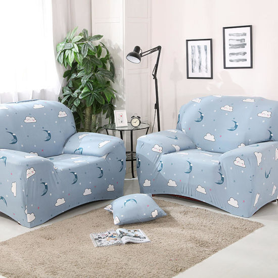 1/2/3/4/ Seat Sofas Stretch Sofa Slipcover 1-Piece Polyester Spandex Fabric  Couch Cover Chair Loveseat Furniture Protector Covers