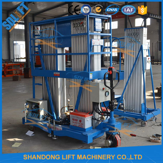 Portable Hydraulic Aerial Vertical Aluminium Suspended Work Platform pictures & photos