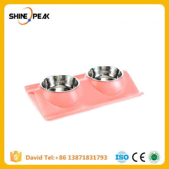 Stainless Steel Food Dish Double Food Water Pet Dog Puppy Cat Kitchen Cat Supplies Pet Products pictures & photos