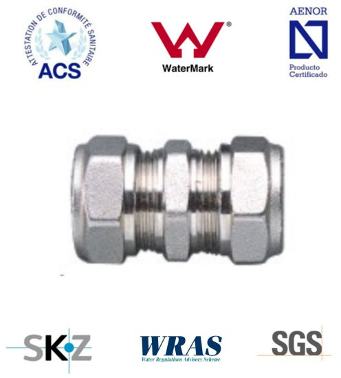 Compression Fitting - Brass Fitting - Plumbing Fitting (Equal Straight)
