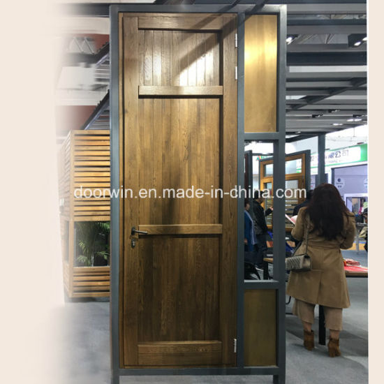 China Copper Clad Oak Wood Entry Door Hinged Patio Door China