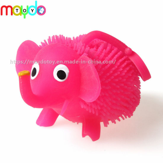 TPR Flashing Elephant Puffer Ball Soft Plastic Kids Toy pictures & photos