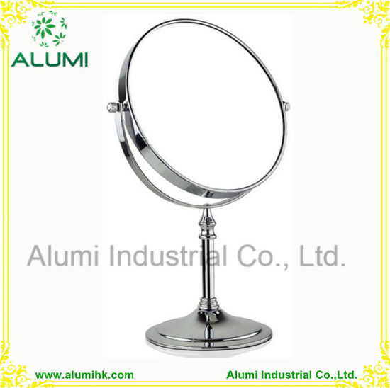 China Round Shaped Double Sided Table Mirror Free Standing