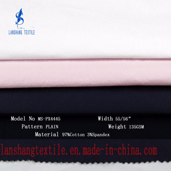 2b9f5e276c China 3%Spandex 97%Cotton Fabric for Shirt Skirt - China Cotton ...