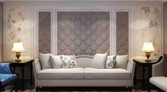 china pu leather wall sticker 3d wall coverings sound absorbing