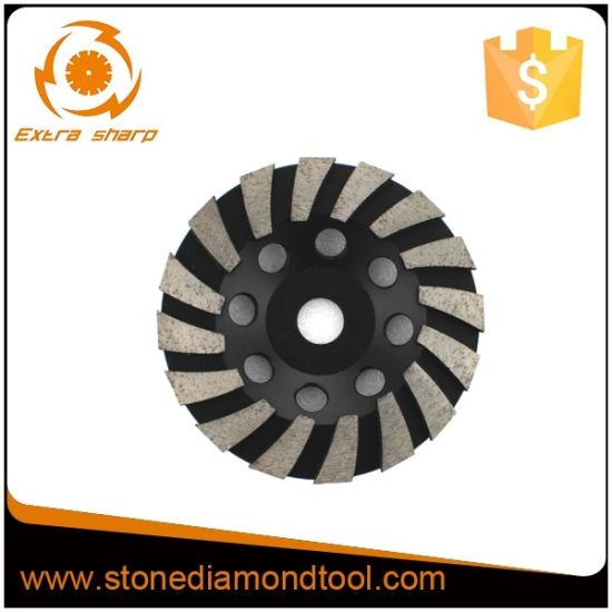 "115mm 5/"" Diamond Grinding Cup Wheel Stone Marble Concrete Sanding Turbo Segment"