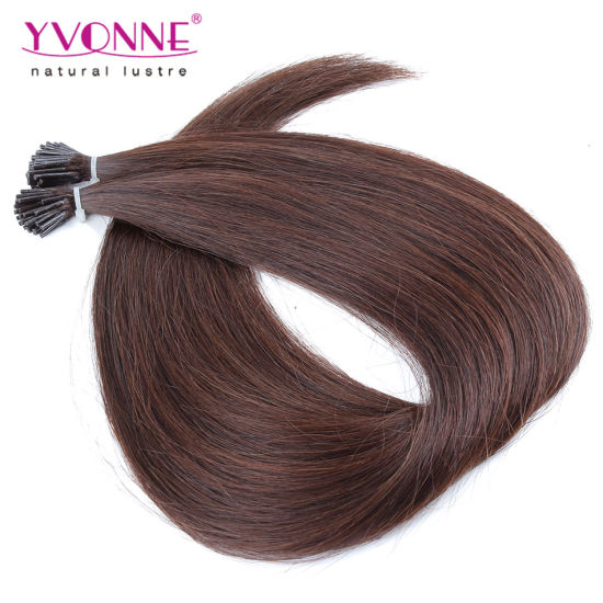 Color #2 Brazilian Hair Straight I Tip Human Hair Extensions pictures & photos