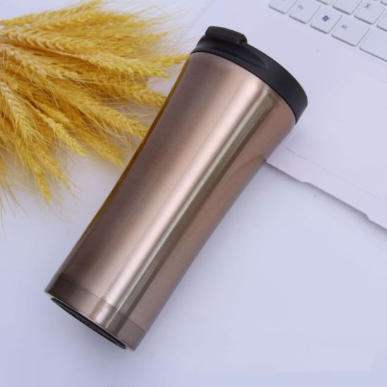 Double Walls Vacuum Metallic Coffee Mug Stainless Steel Coffee Tumbler in 450ml