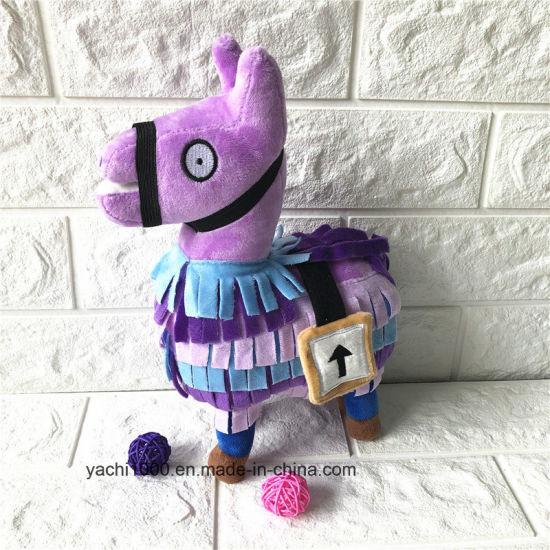 Plush Purple Horse Animal Toy