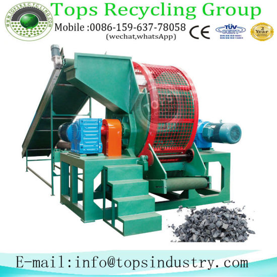 China Tyre Strip Cutting Equipment / Scrap Old Waste Tyre / Tyre