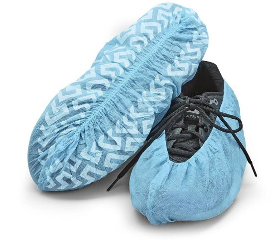 Blue Polypropylene Disposable Shoe Covers for General Purposes pictures & photos
