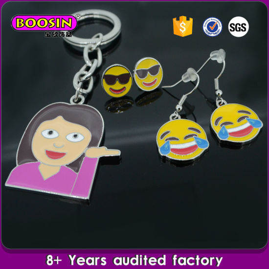 Over 13 Years Experience Guangzhou Factory Wholesale Metal Keychain Emoji Keychain pictures & photos