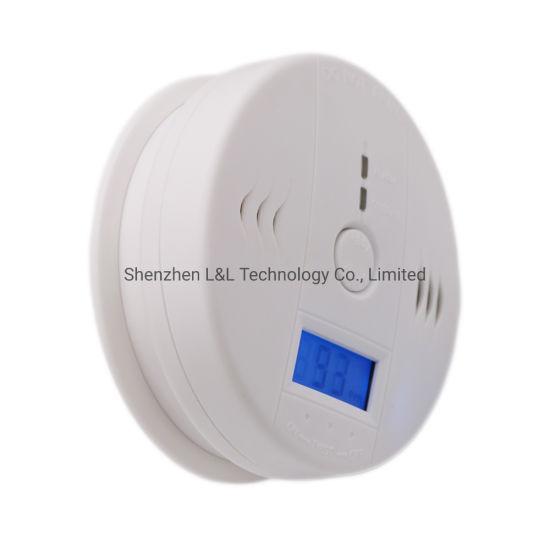 Carbon Monoxide Alarm Honeycomb Soot Detector Co Blue Smoke Detection LCD Display Alarm