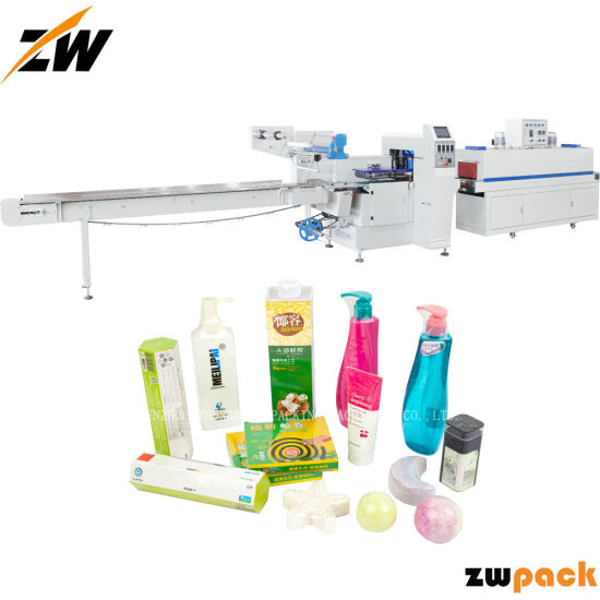 Automatic Heat Hot Sealing Sealer Shrink Shrinkable Shrinking Film Pack Packer Package Packing Wrap Wrapper Wrapping Machine for Shampoo
