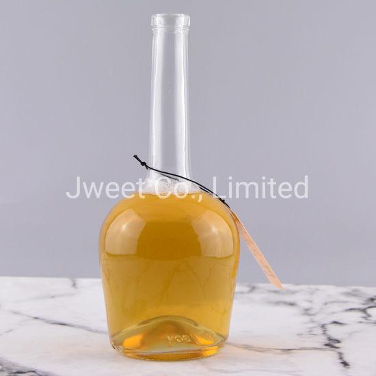 Wholesale Clear 700ml Long Neck for Spirit Whiskey Glass Bottle