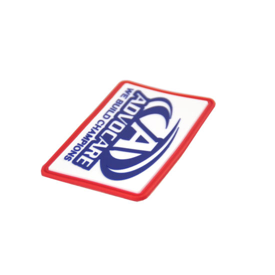 Wholesale Custom Silkscreen Competition Design PVC Patch with 3m Sticker