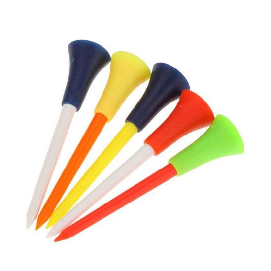 Wholesale 5PCS/Set Multi Color Rubber Golf Tees 83mm