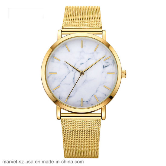 Mesh Band Casual Fashion Women Quartz Watches Gift Stainless Steel Wristwatches