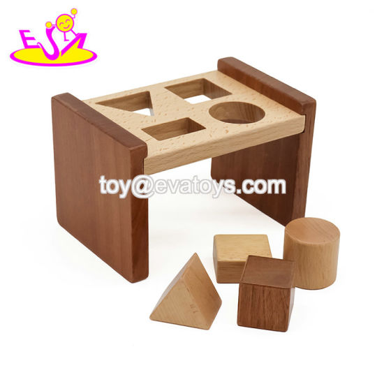 2019 New Arrival Educational Wooden Shape Sorter for 9 Month Baby Toys W13e085 pictures & photos