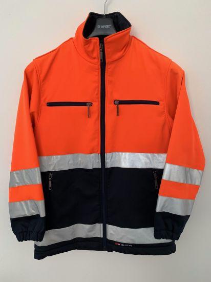 Safety Softshell Jacket, Uniform Softshell Jacket, Fleece Bonded. Meet En471