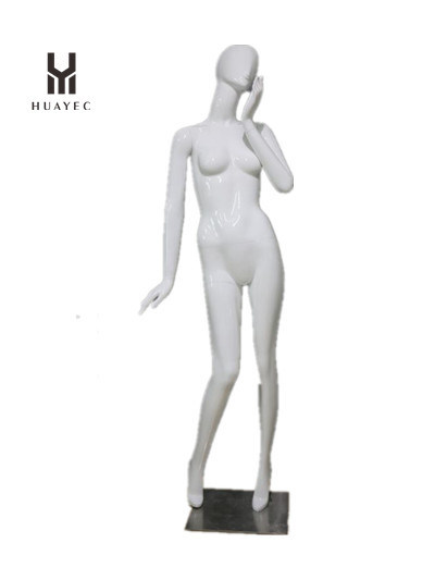 Custom Female Window Display White Stand Adults Mannequin