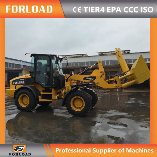Forload H928m Small/Mini Compact Tractor Front Wheel Loader with Snow  Blower for Canada Market