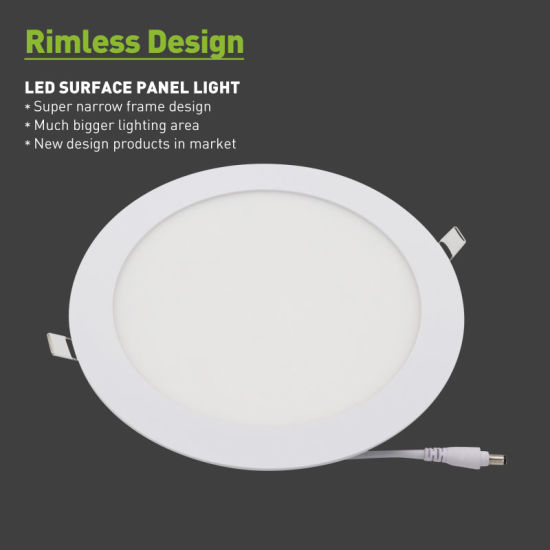 Ce RoHS CB TUV OEM PF>0.9 PF0.9 80lm/W Dimmable Isolated Driver 3W 6W 9W 12W 15W 18W 24W Ultra Thin Slim Small Lamp Round Square Recessed LED Panel Light