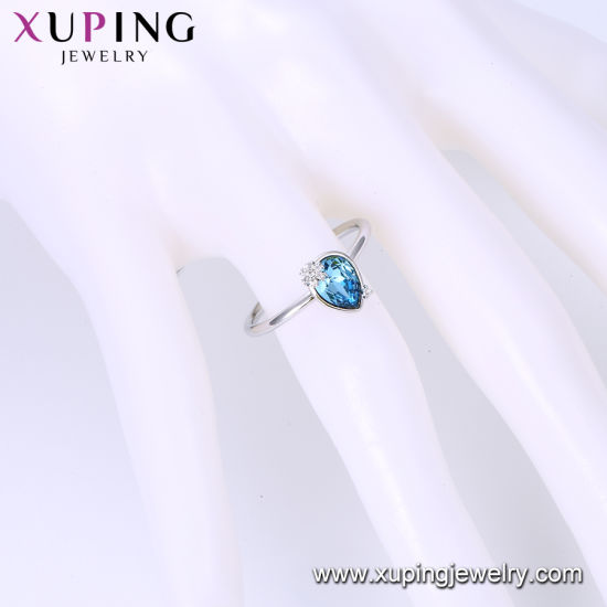 Luxury Fashion Jewelry Crystals Bridal Ring New Design Party Silver Color Jewelry Round Charm Wedding Ring pictures & photos