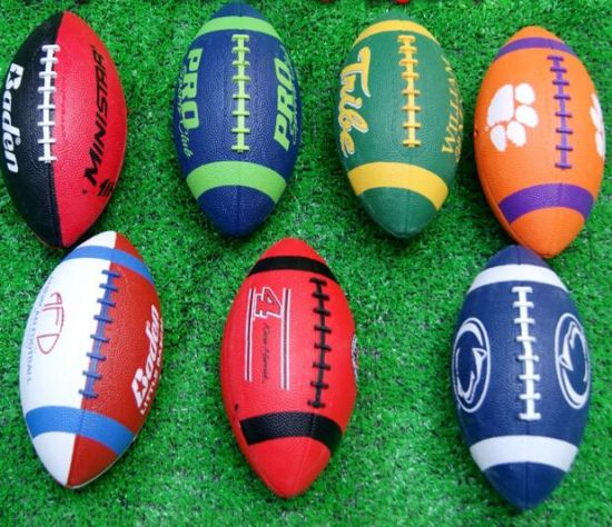 Real Sample PU American Football Full Color Prinitng Logo Ball Cheapest Famous Style