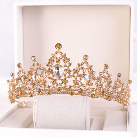 Wedding Tiara Pageant Tiara Crown Hair Accessories Rhinestone Crystal Tiara Crown Bridal Tiara pictures & photos
