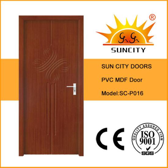 Prettywood Latest Apartment Room Interior Solid Wood MDF PVC Door
