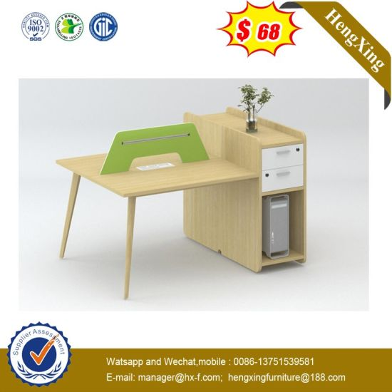 Foshan Factory Prices 2 Seats Study Table Modern Office Partition