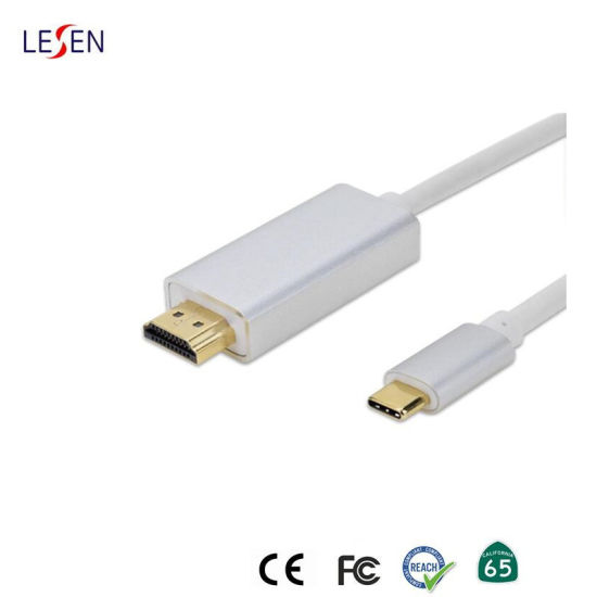 Metal Shell USB 3.1 Type-C to HDMI 4K 3D Extension Data Sync Cable