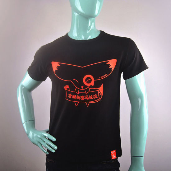OEM Factory Dark Blue Silk Screen Printing T Shirt Maker