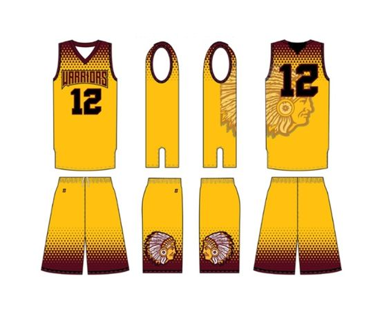 bad553c6a72 Yellow Color Men Sleeves Logo Jersey Design Basketball Uniform. Get Latest  Price