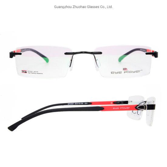 9ab03beb10c6 2019 New Fashion Design Tr90 Rimless Factory Custom Eyeglasses Metal Eyewear  Optical Frames for Men