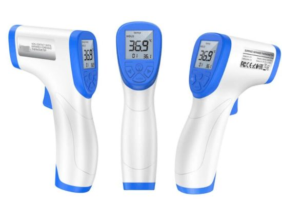 Non-Contact Digital Thermometer with LCD Display Fever Alert Function Accurate Instant Readings for Baby Adults Surface of Object Outdoor Infrared Forehead Thermometer